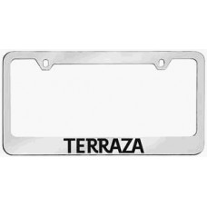 Terraza Solid Brass License Plate Frame