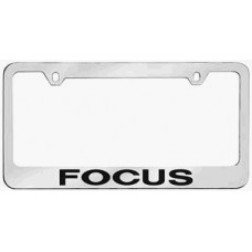 Focus Solid Brass License Plate Frame