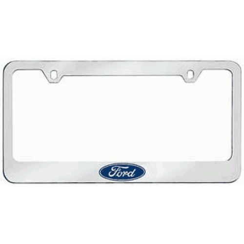 ford logo solid brass license plate frame