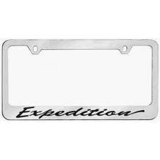Expedition Script Solid Brass License Plate Frame