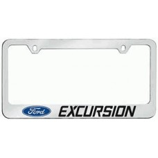 Excursion Solid Brass License Plate Frame
