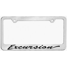 Excursion Script Solid Brass License Plate Frame