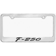 F-250 Script Solid Brass License Plate Frame