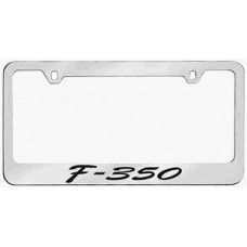F-350 Script Solid Brass License Plate Frame