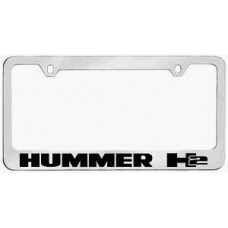 H2 Solid Brass License Plate Frame