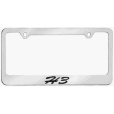 H3 Solid Brass License Plate Frame