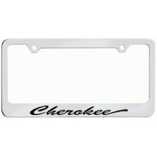 Cherokee Solid Brass License Plate Frame