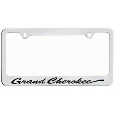 Grand Cherokee Solid Brass License Plate Frame