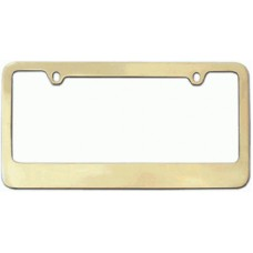 Gold Thin-Top Solid Brass License Plate Frame
