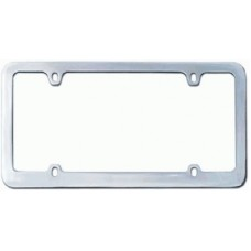 Chrome Plated Thin 4-Hole Solid Brass License Plate Frame