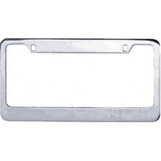 Chrome Plated Wide-Top 2-Hole Solid Brass License Plate Frame