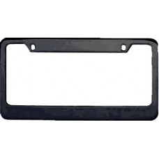 Black Wide-Top Solid Brass License Plate Frame
