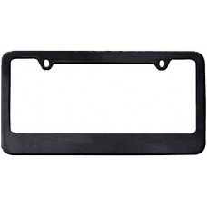 Black Thin-Top Solid Brass License Plate Frame