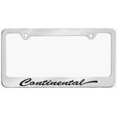 Continental Solid Brass License Plate Frame