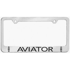 Aviator Solid Brass License Plate Frame