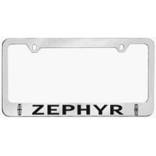 Lincoln Zephyr Solid Brass License Plate Frame