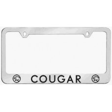 Mercury Cougar Solid Brass License Plate Frame