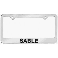 Mercury Sable Solid Brass License Plate Frame