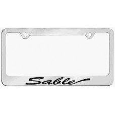Mercury Sable Solid Brass License Plate Frame- Script