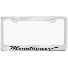 Mercury Mountaineer Solid Brass License Plate Frame - Script