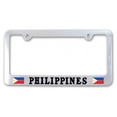 Chrome Philippines Flag License Frame