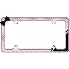 Retro Polka Dot Bling, Chrome/Pink/Black/Clear