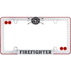 Firefighter, Chrome Black Red w fastener caps