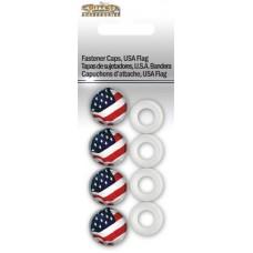 Fastener Caps, USA Flag