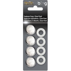 Fastener Caps, Chrome Clear Pave