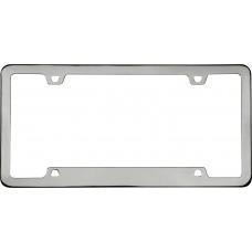 Neo Sport Black Chrome License Plate Frame
