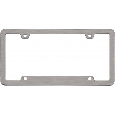 Neo Sport Brushed Nickel License Plate Frame