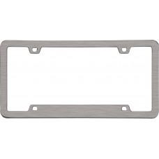 Neo Sport Brushed Nickel License Plate Frame