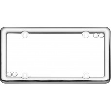 Nouveau Chrome License Plate Frame with fastener caps