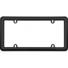 Nouveau Black Plastic License Plate Frame