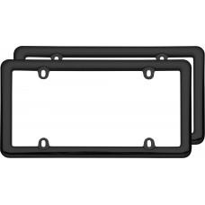 Nouveau Two Frame Valu-Pak Black Plastic License Plate Frame