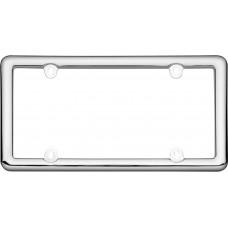 Nouveau Chrome Plastic License Plate Frame