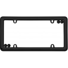 Nouveau Black License Plate Frame with Fastener Caps