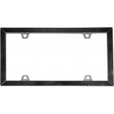carbon fiber ii carbon fiberblack chrome license plate frame