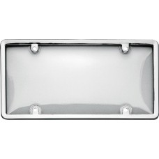 Combo Chrome/Clear License Plate Shield