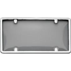 Combo Chrome/Smoke License Plate Shield