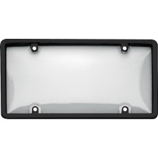 Combo Black/Clear License Plate Shield