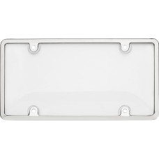 Tuf Combo Chrome/Clear License Plate Shield