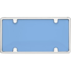 Tuf Combo Chrome/Blue License Plate Shield