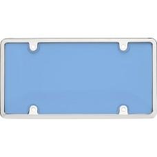 Tuf Combo Chrome/Blue License Plate Shield