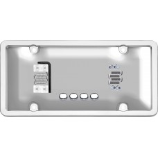 Ultimate Tuf Combo Chrome/Clear License Plate Shield