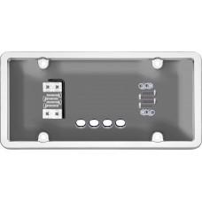 Ultimate Tuf Combo Chrome/Smoke License Plate Shield