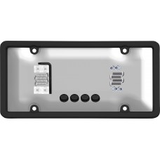 Ultimate Tuf Combo Black/Clear License Plate Shield