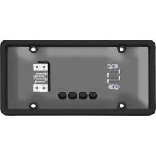 Ultimate Tuf Combo Black/Smoke License Plate Shield