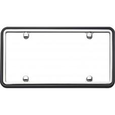 Two Tone Chrome/Black License Plate Shield