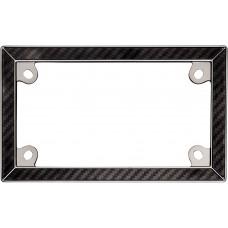 MC Black/ Chrome Carbon Fiber License Plate Frame